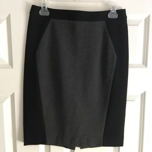 Loft Charcoal Gray and Black Skirt